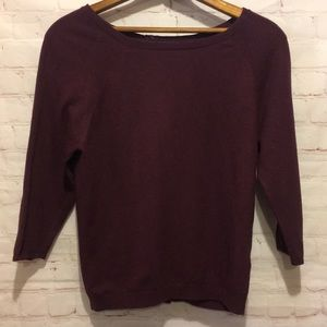 Boden violet 3/4 sleeve back button sweater 2